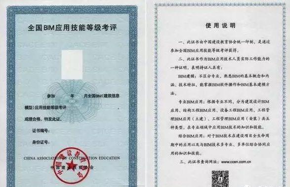 盘点国内主流BIM行业证书