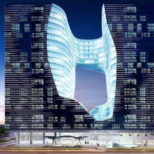 项目巡礼丨No.8 沙漠里的冰川,又一扎哈遗作诞生!7年打造,18亿耗资,360度零死角的迪拜大楼居然长这样!