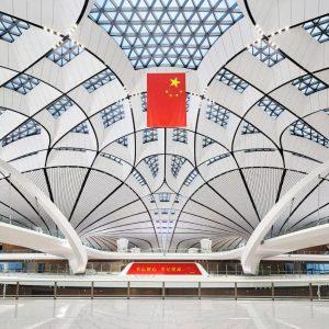 项目巡礼丨No.9 幕墙BIM应用实例,北京大兴国际机场全貌